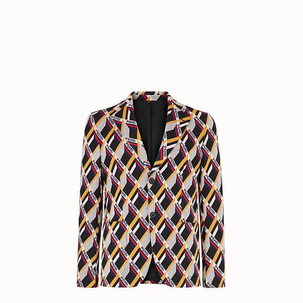 FENDI LONG BOMBER JACKET - Multicoloured fabric blazer - view 1 small thumbnail
