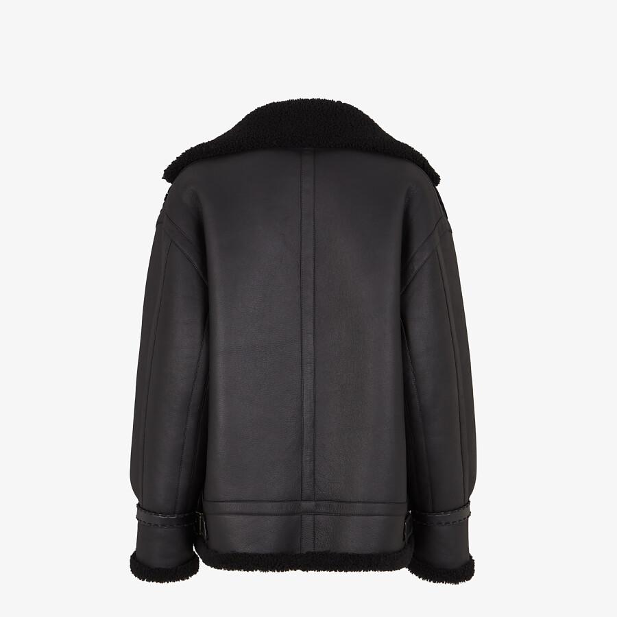 FENDI JACKET - Black shearling jacket - view 2 detail