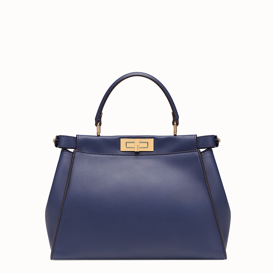 FENDI PEEKABOO ICONIC MEDIUM - Blue leather bag - view 4 detail