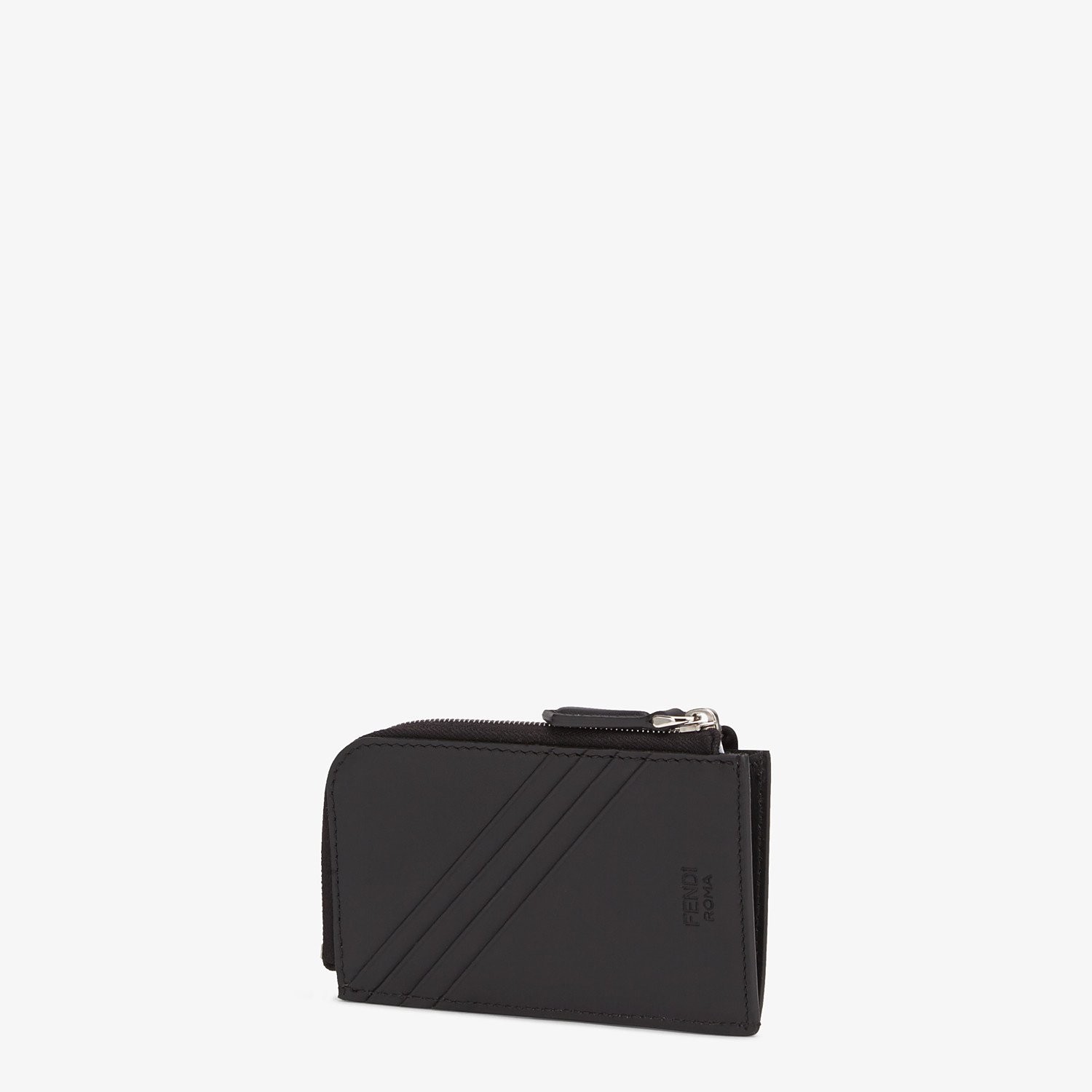 FENDI COIN PURSE - Black leather pouch - view 2 detail