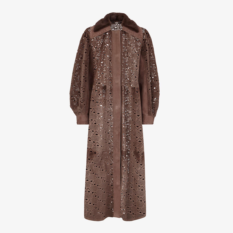 FENDI COAT - Brown mink coat - view 1 detail
