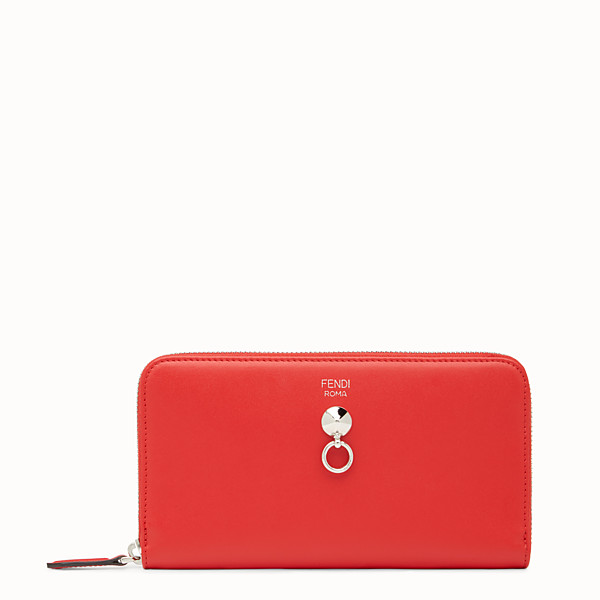 FENDI ZIP-AROUND - Red leather zip-around - view 1 small thumbnail