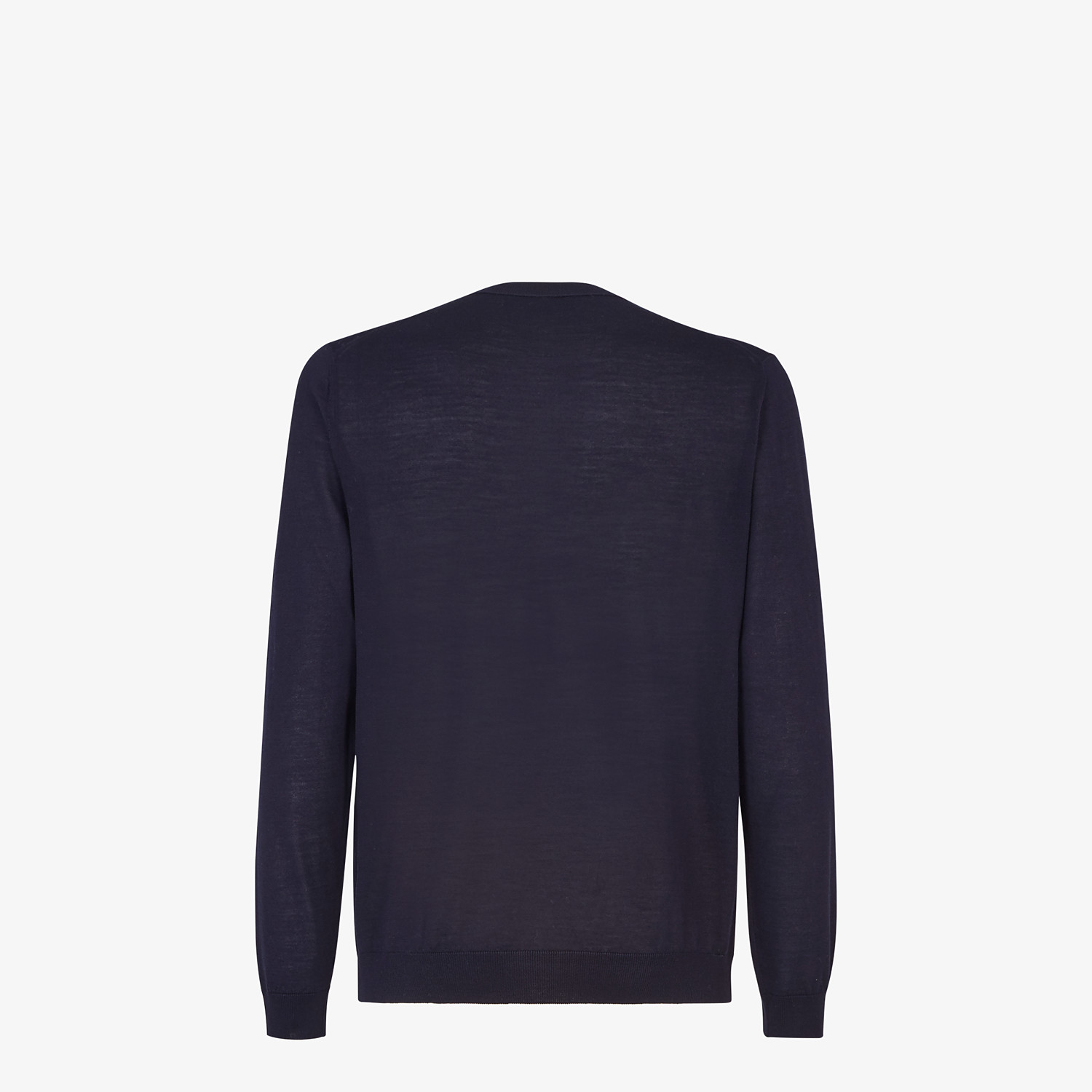 FENDI PULLOVER - Blue cashmere, wool and silk jumper - view 2 detail