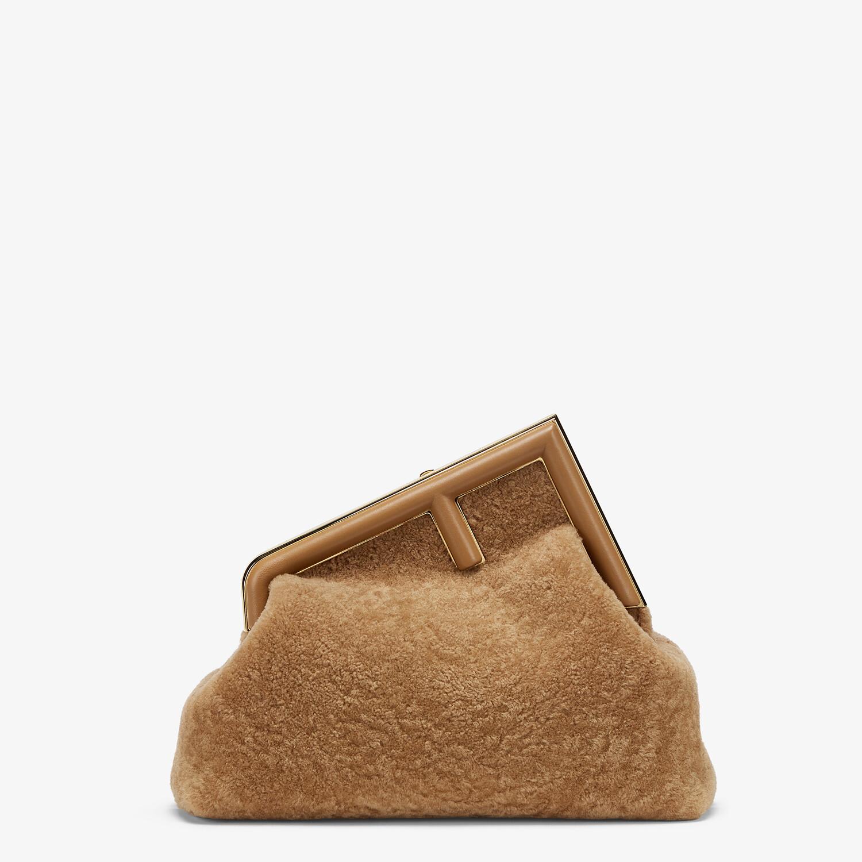FENDI FENDI FIRST MEDIUM - Beige sheepskin bag - view 1 detail