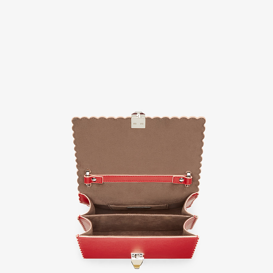 FENDI KAN I SMALL - Red leather mini-bag - view 4 detail