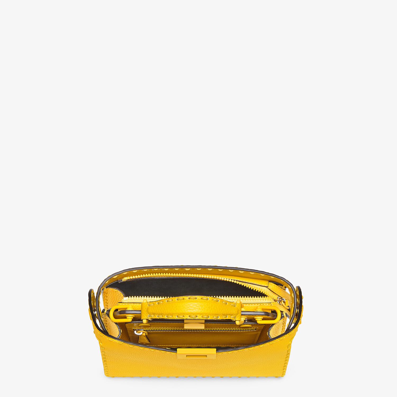 FENDI PEEKABOO ISEEU MINI - Yellow leather bag - view 5 detail