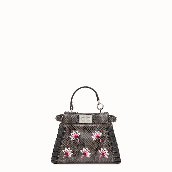 FENDI MICRO PEEKABOO - Grey python micro-bag - view 1 small thumbnail