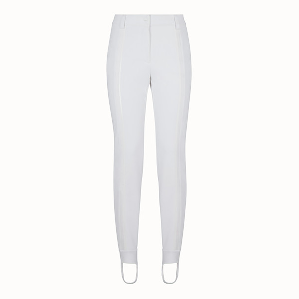 FENDI LEGGINGS - White tech fabric trousers - view 1 small thumbnail