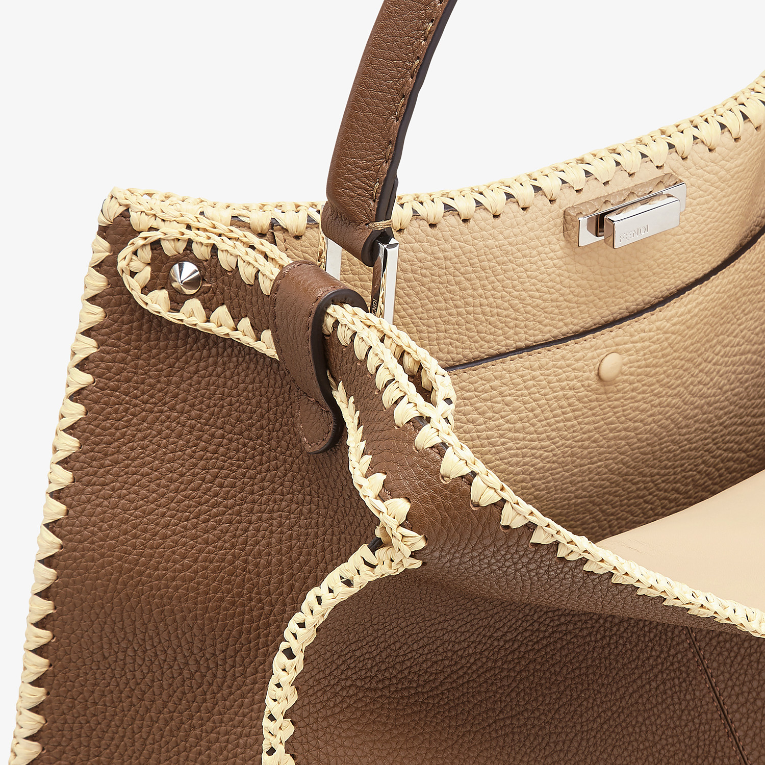 FENDI PEEKABOO X-LITE LARGE - Brown leather bag - view 7 detail