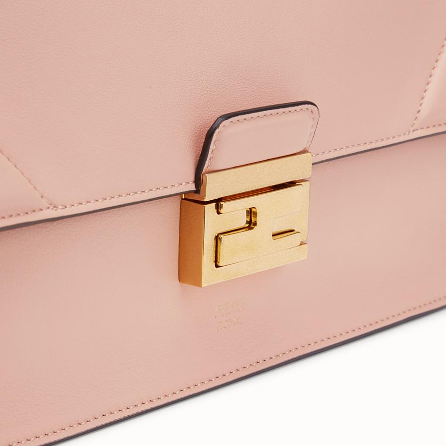 FENDI KAN U - Pink leather bag - view 6 detail