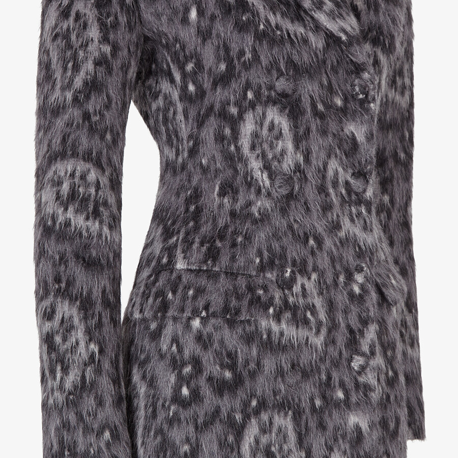 FENDI COAT - Gray wool coat - view 3 detail