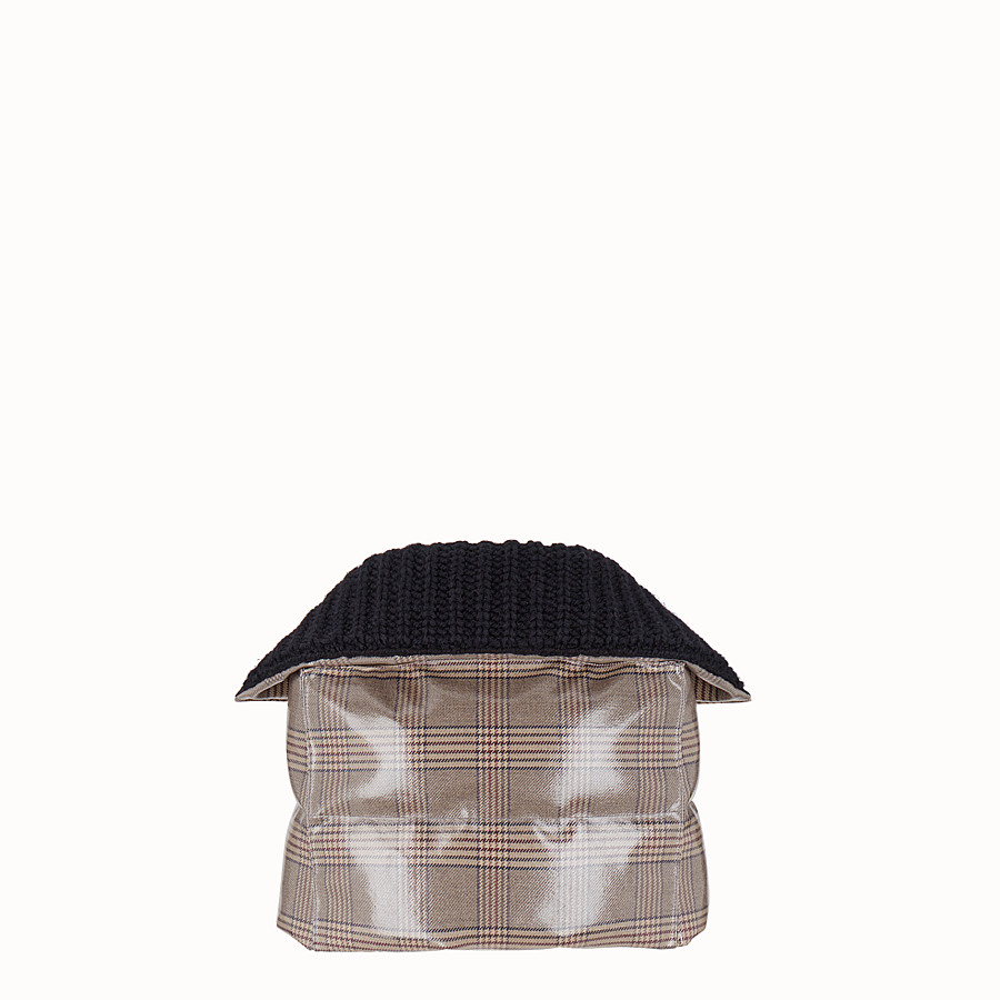 FENDI CAPE - Prince of Wales check fabric cape - view 2 detail