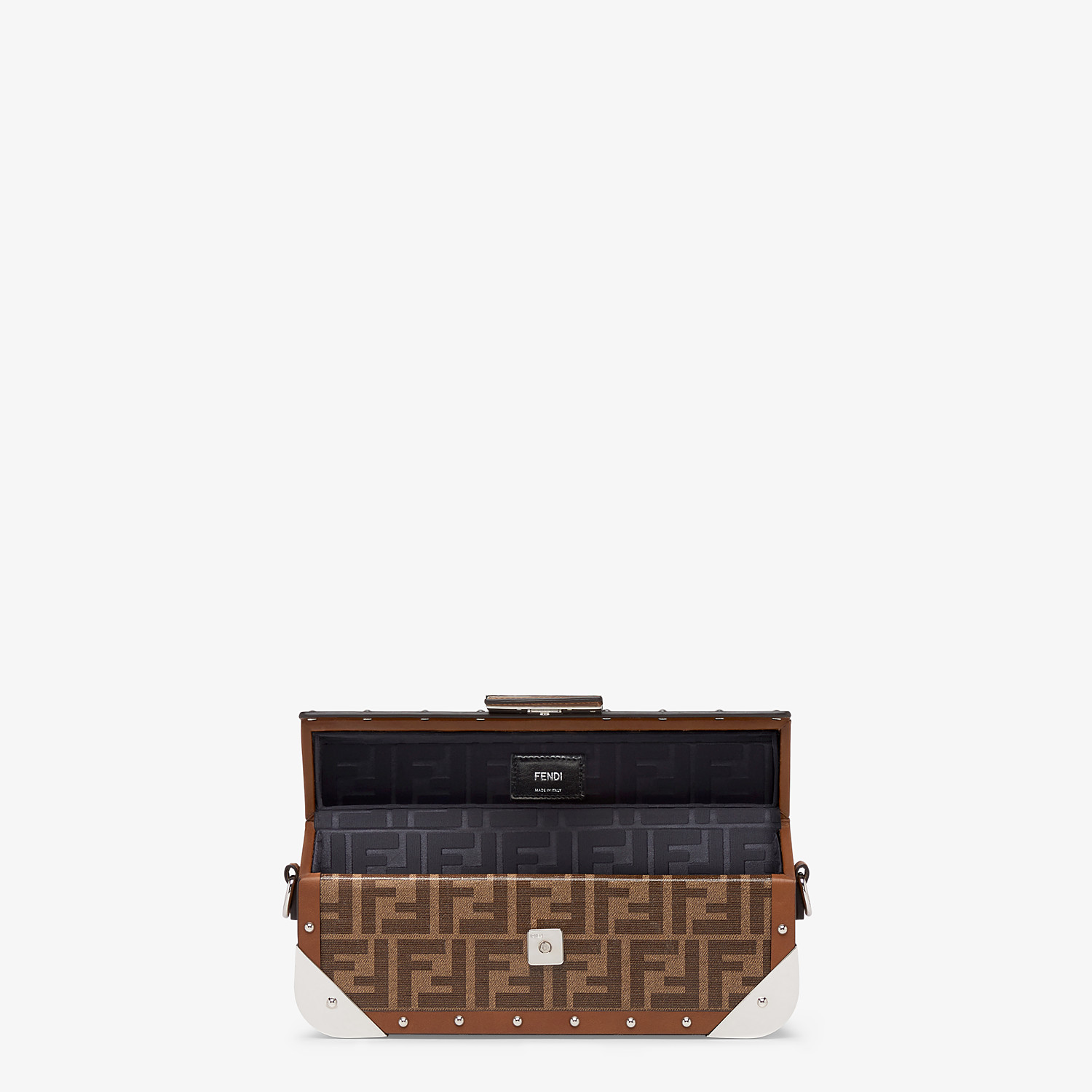 FENDI BAGUETTE TRUNK MEDIUM - Brown fabric bag - view 4 detail