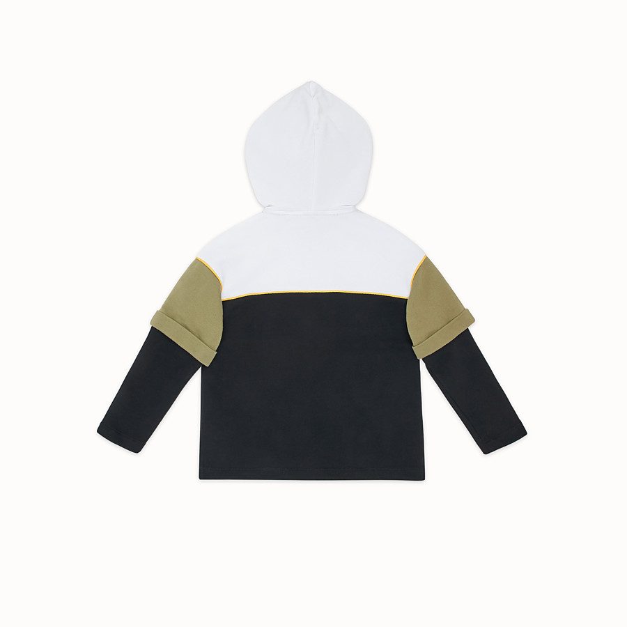 FENDI DOUBLE EFFECT SWEATSHIRT - Multicolour cotton sweatshirt - view 2 detail