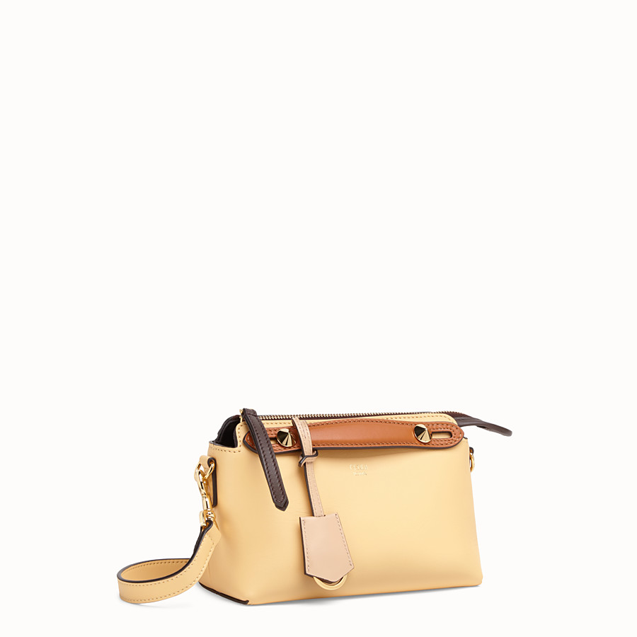 FENDI BY THE WAY MINI - Yellow leather small Boston bag - view 2 detail