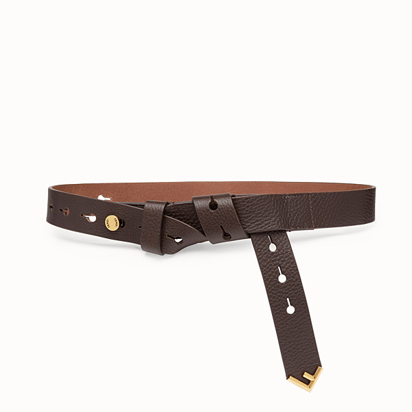 FENDI BELT - Brown leather belt - view 1 small thumbnail