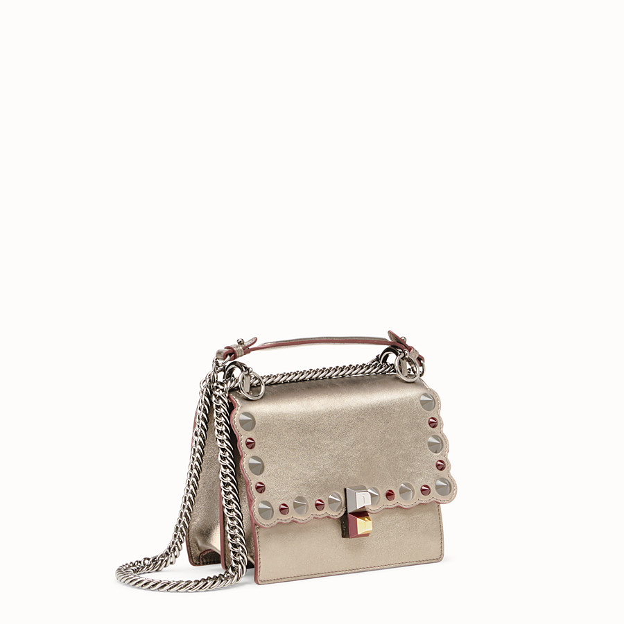 FENDI KAN I SMALL - Bronze-coloured leather mini bag - view 2 detail