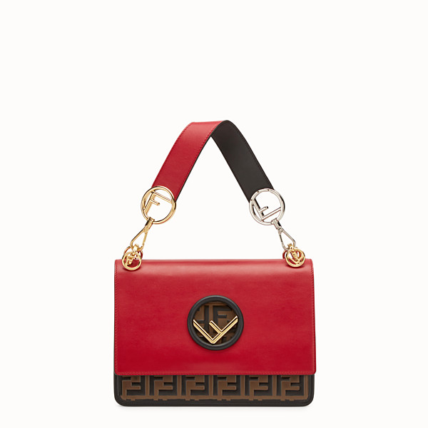 FENDI KAN I F - Red leather bag - view 1 small thumbnail