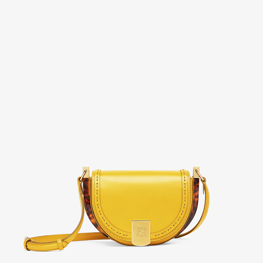 FENDI MOONLIGHT - Yellow leather bag - view 1 detail