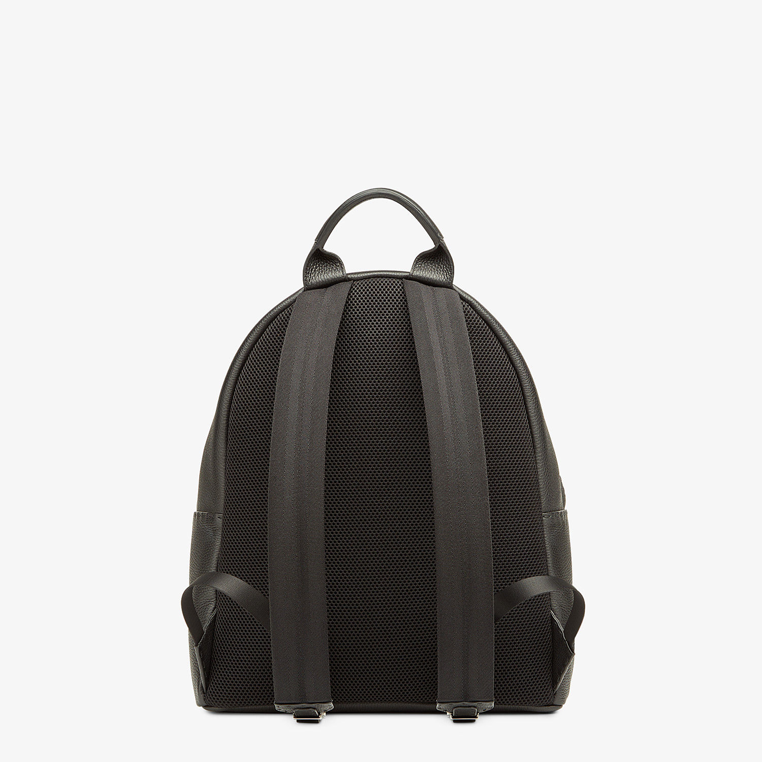FENDI BACKPACK - In black Roman leather with inlay - view 3 detail