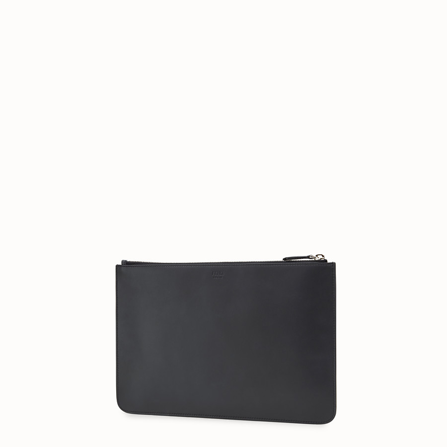 FENDI POUCH - Black and yellow leather pouch - view 2 detail
