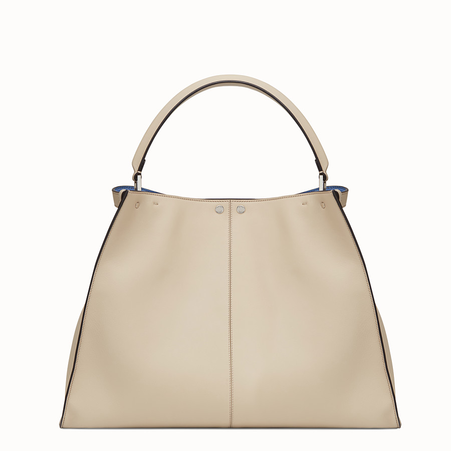 FENDI PEEKABOO X-LITE - Beige leather bag - view 4 detail