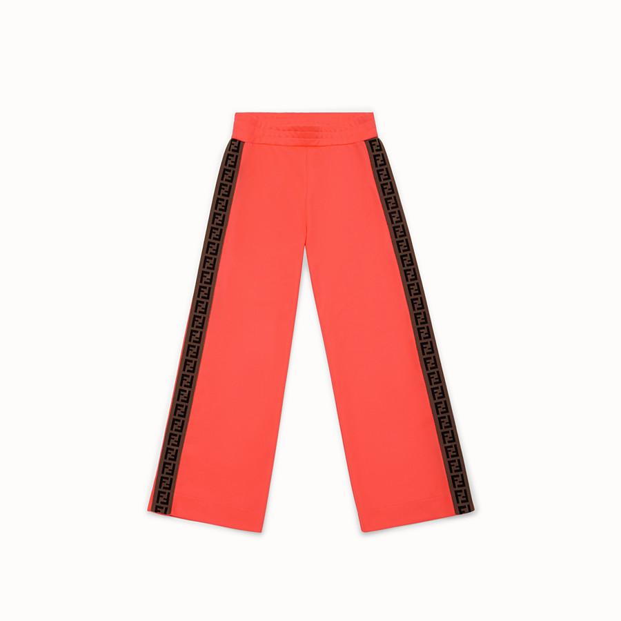 FENDI PANTS - Pink tech fleece trousers - view 1 detail
