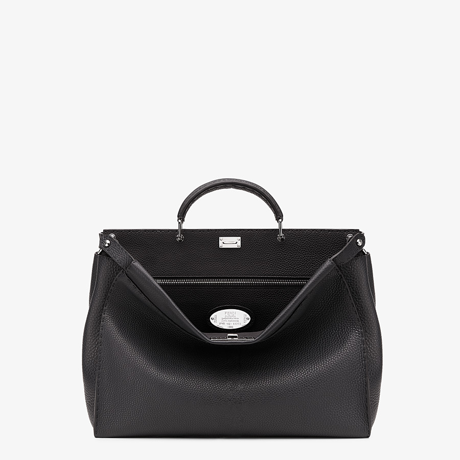 FENDI PEEKABOO ICONIC MEDIUM - Black Selleria bag - view 1 detail