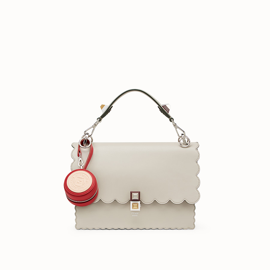 FENDI HELP BAG CHARM - Red leather charm - view 4 detail