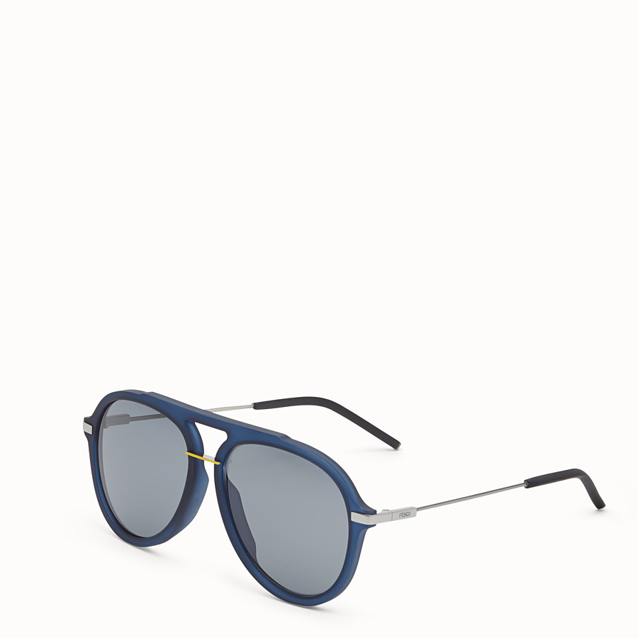 FENDI FENDI FANTASTIC - Blue satin-finish sunglasses - view 2 detail