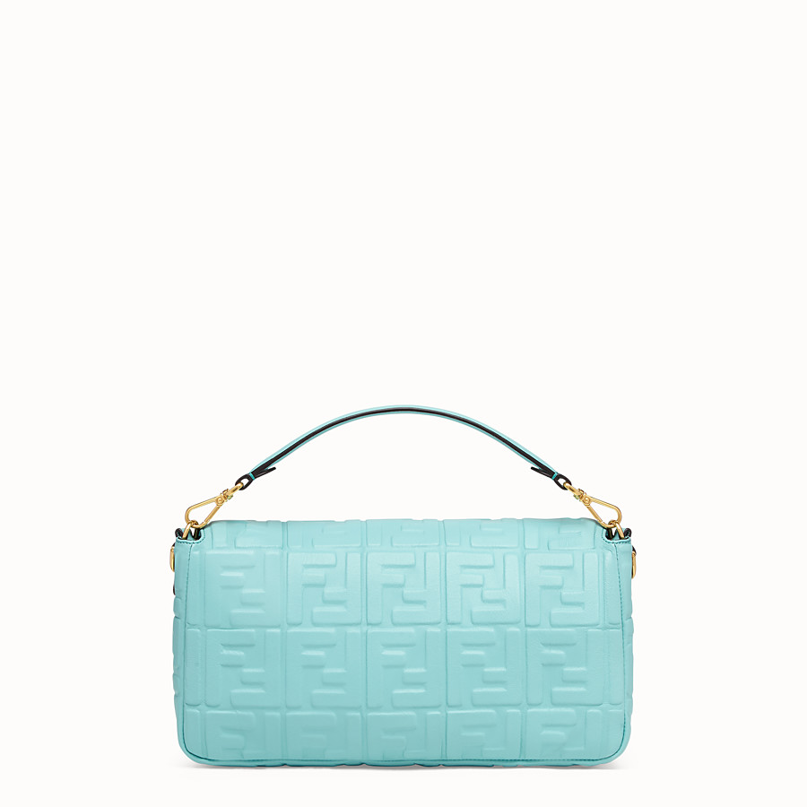 FENDI BAGUETTE LARGE - Pale blue leather bag - view 3 detail