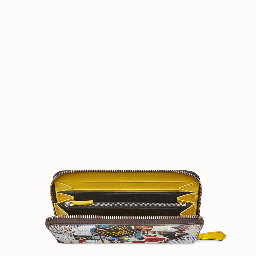 FENDI ZIP-AROUND - Multicolour leather wallet - view 3 detail