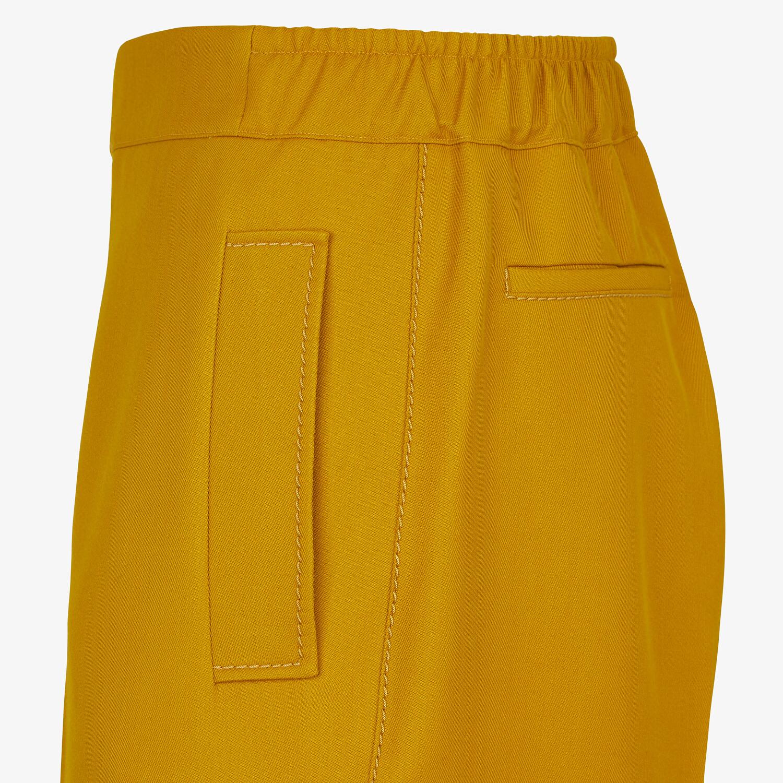 FENDI BERMUDAS - Yellow wool pants - view 3 detail