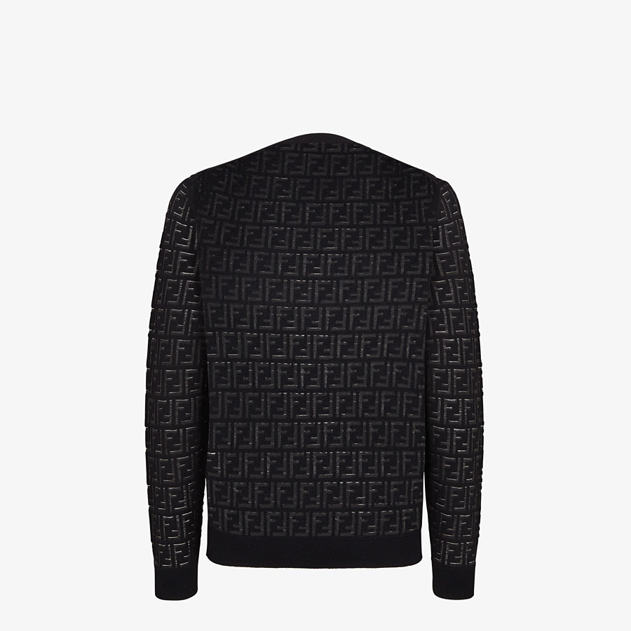 FENDI SWEATER - Sweater in black nylon and wool - view 2 detail