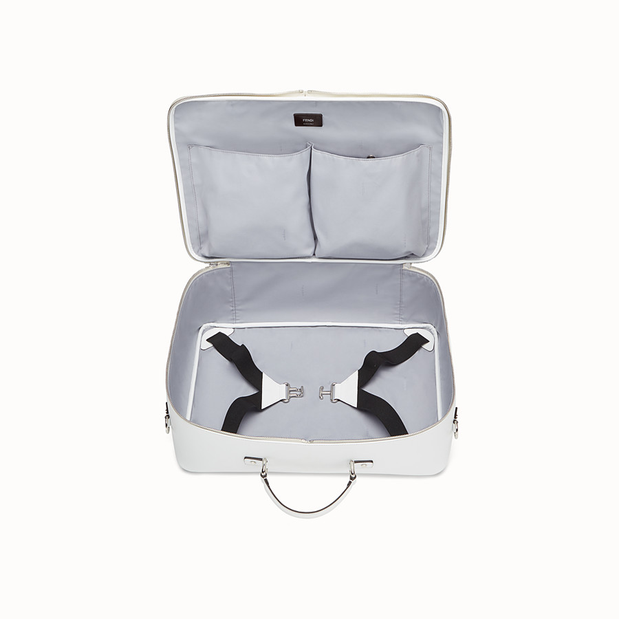 FENDI BABY SUITCASE - White and grey canvas suitcase - view 4 detail