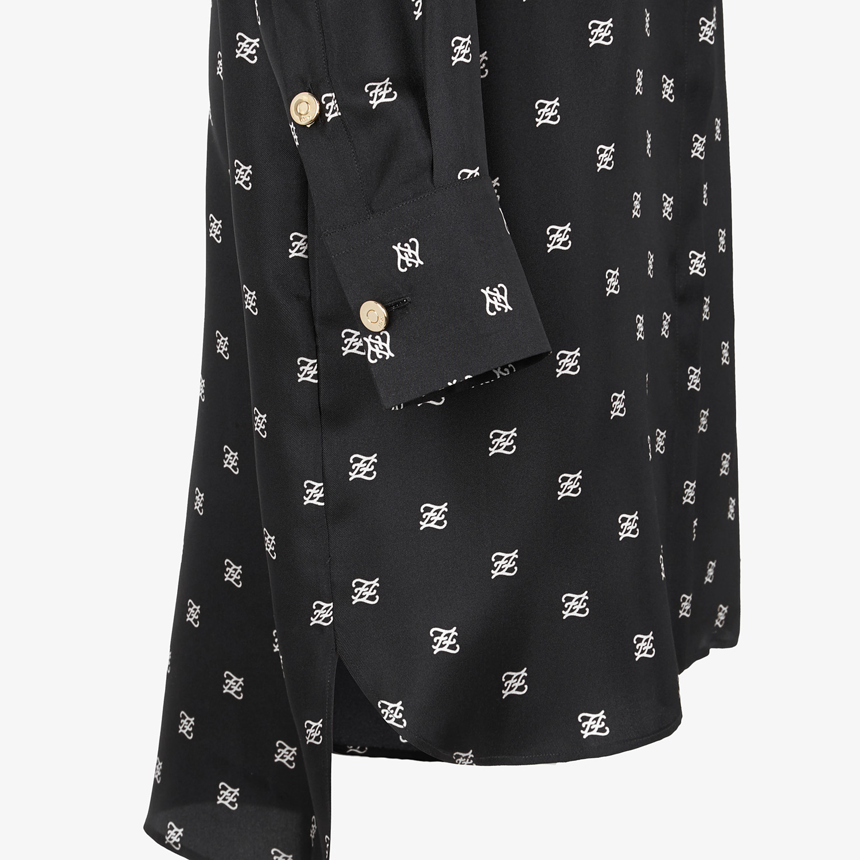 FENDI DRESS - Black twill dress - view 3 detail
