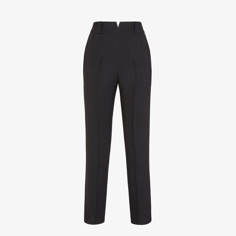 FENDI PANTS - Black viscose pants - view 2 detail