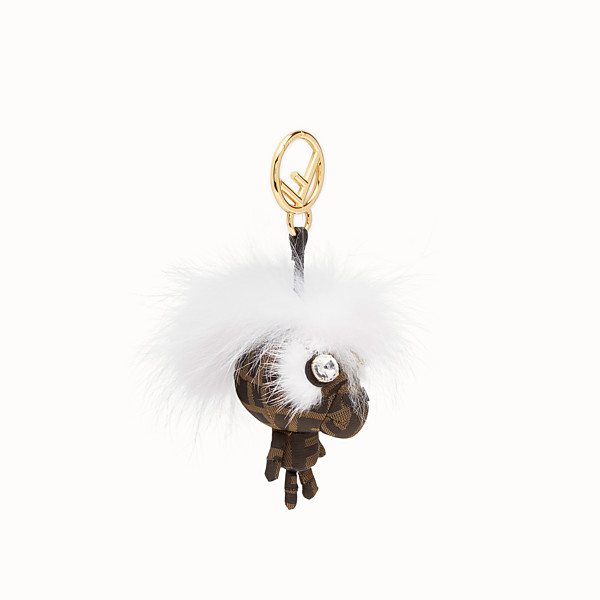 FENDI SPACE MONKEY - White fur charm - view 1 small thumbnail