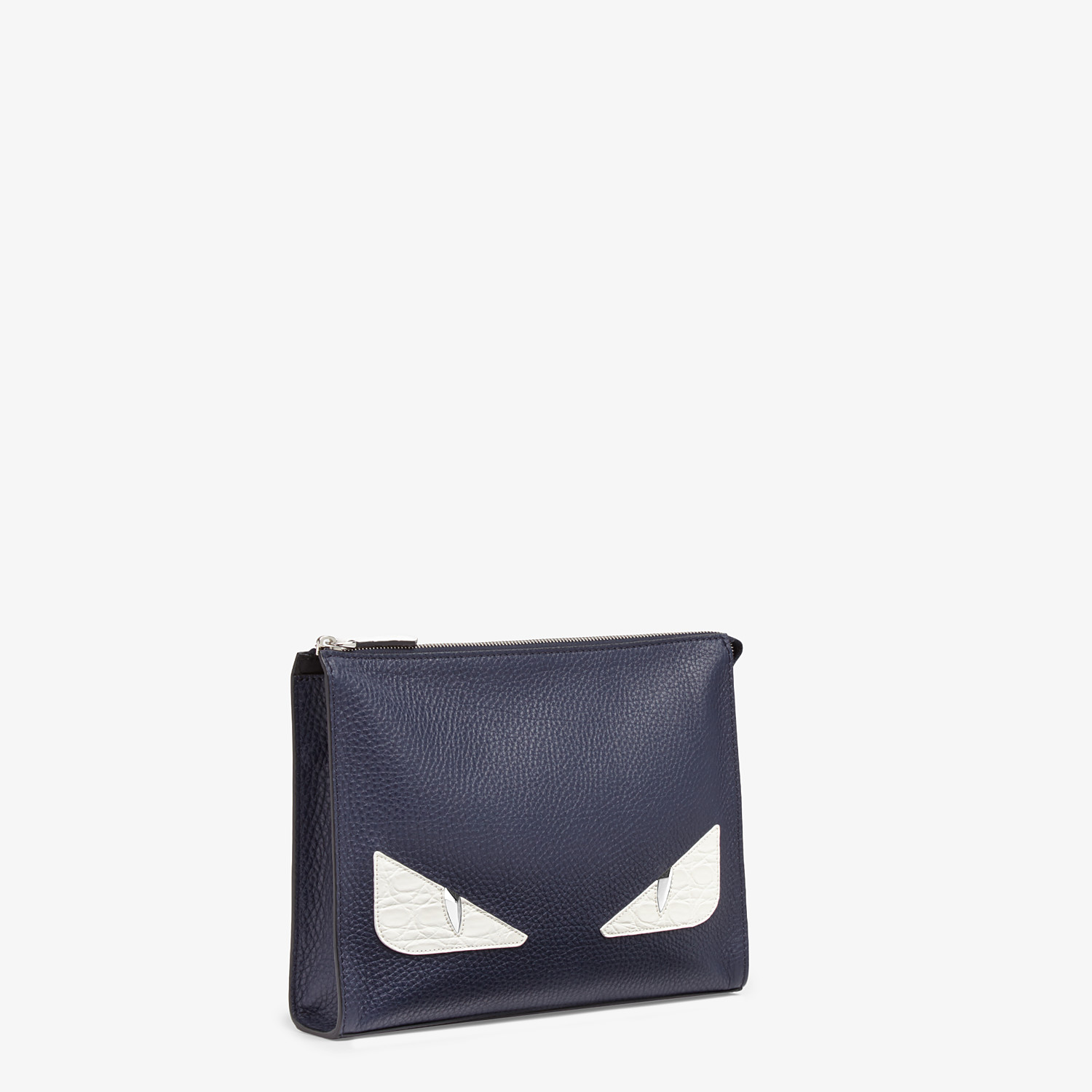 FENDI CLUTCH - Blue leather pochette - view 2 detail