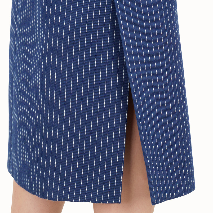 FENDI FALDA - Blue silk and cotton skirt - view 3 detail