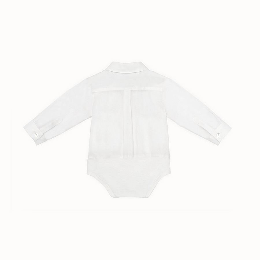 FENDI BABY ROMPER SUIT - Jersey and poplin baby body suit - view 2 detail