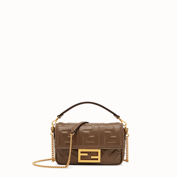 FENDI BAGUETTE - Brown nappa leather bag - view 1 small thumbnail