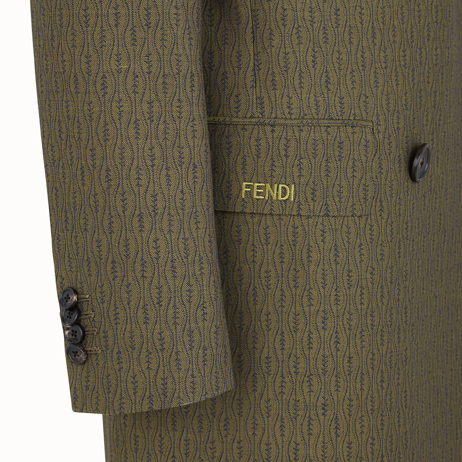 FENDI COAT - Green, woollen coat - view 3 detail