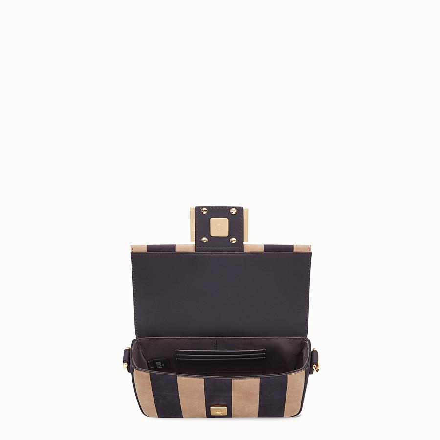 FENDI BAGUETTE - Brown nubuck leather bag - view 5 detail