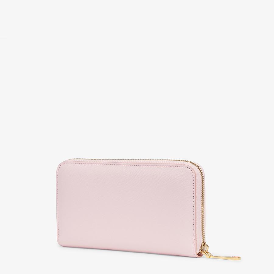 FENDI ZIP-AROUND - Pink leather wallet - view 2 detail