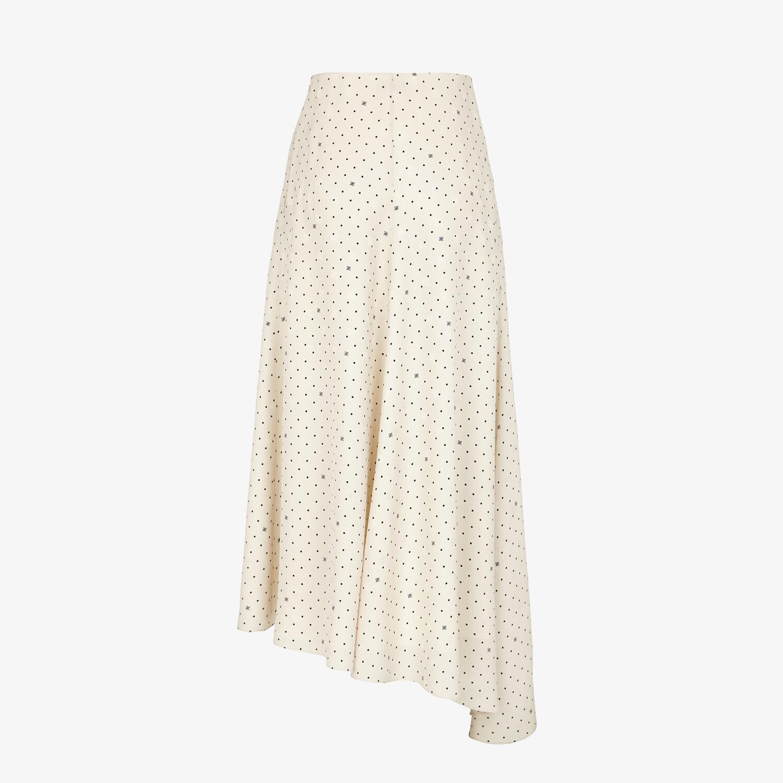 FENDI SKIRT - White silk skirt - view 2 detail