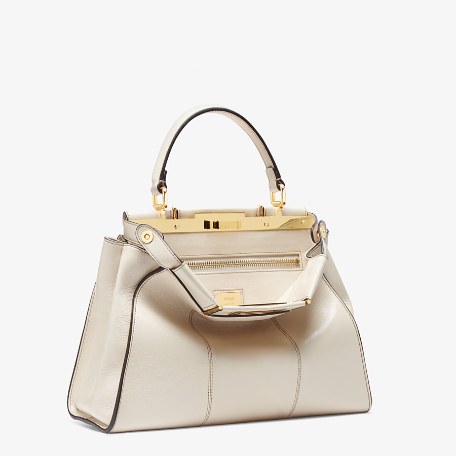 FENDI PEEKABOO ICONIC MEDIUM - White leather bag - view 4 detail