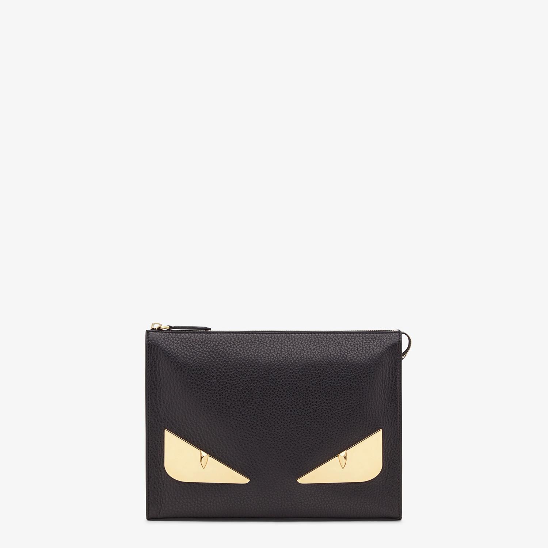 FENDI CLUTCH - Black Romano leather pochette - view 1 detail