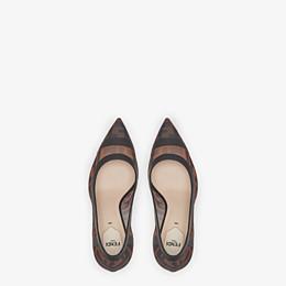 FENDI ESCARPINS - Escarpins en maille et cuir noir - view 4 thumbnail
