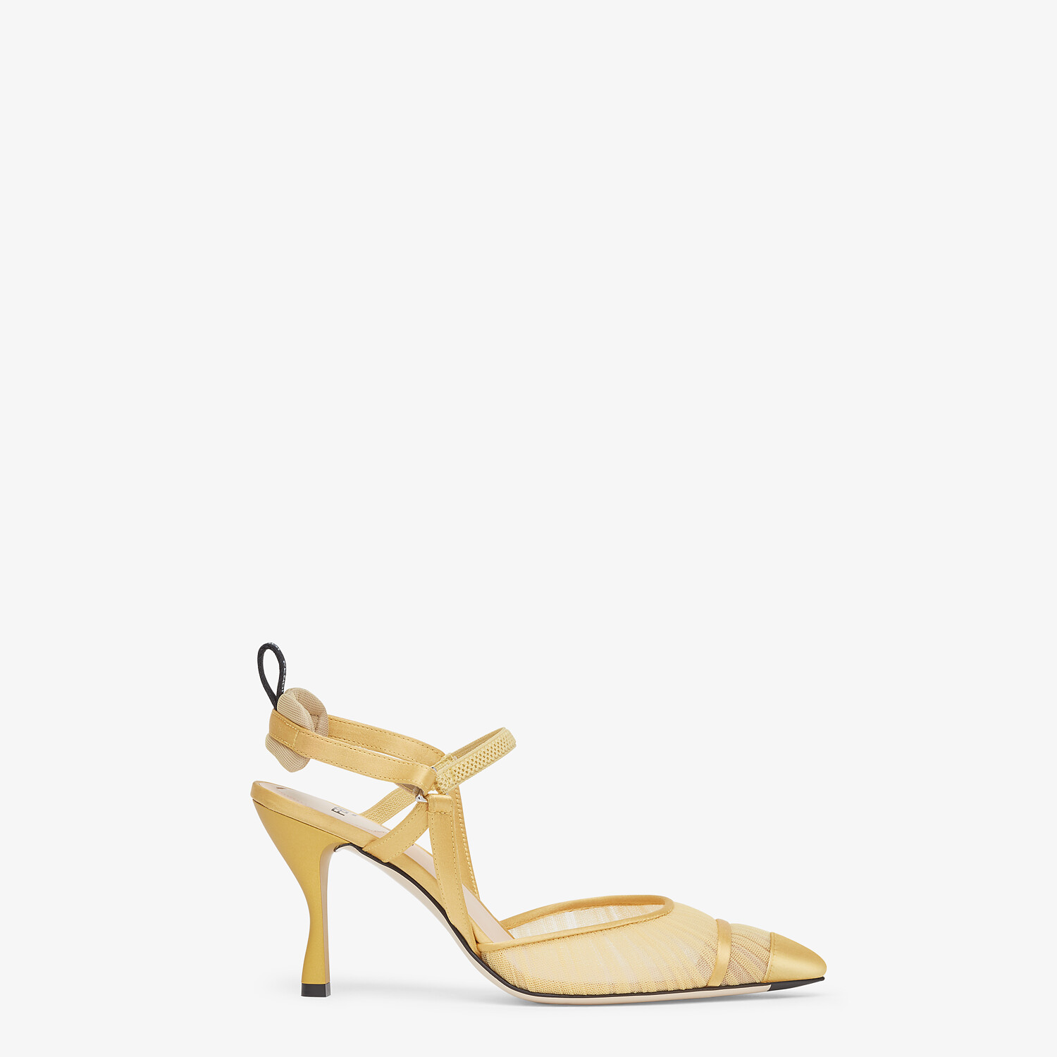 FENDI SLINGBACK - Yellow tulle and satin Colibrì - view 1 detail